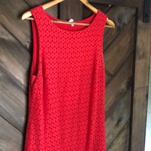 Woman's red dress